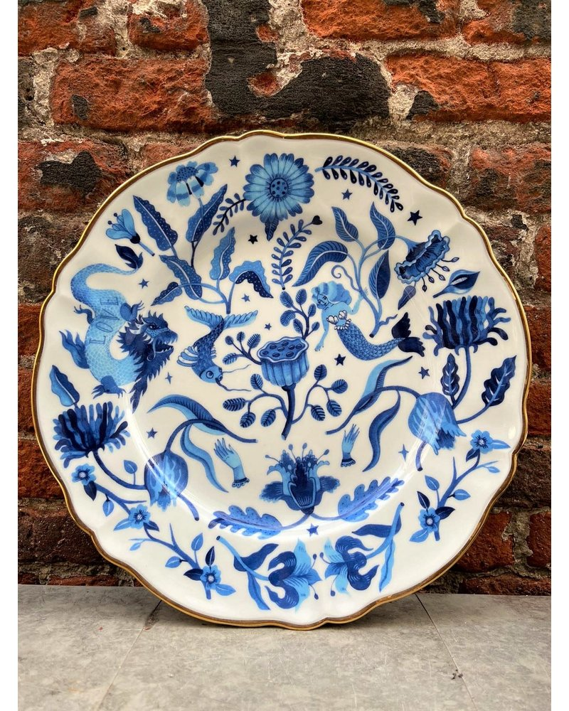 Bitossi Bitossi Funky Table Dinner Plate 'Blue All Over'