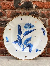 Bitossi Funky Table Deep Plate 'Blue Foral'