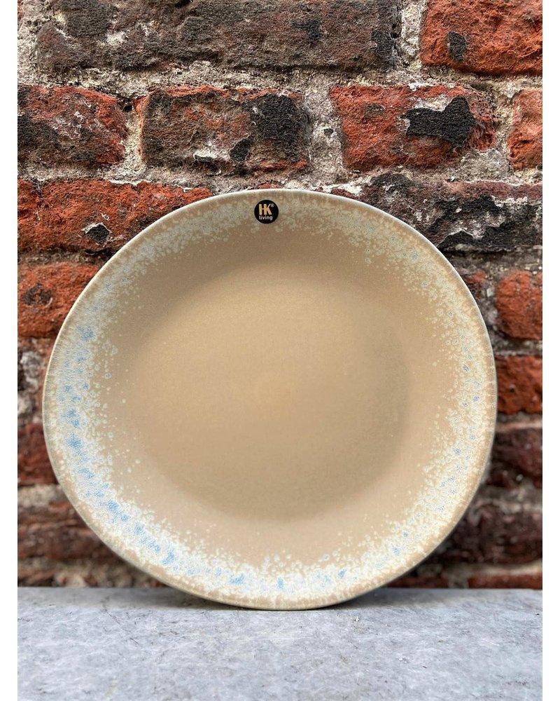 HK living HK living Ceramic 70's Side Plate 'Bark'
