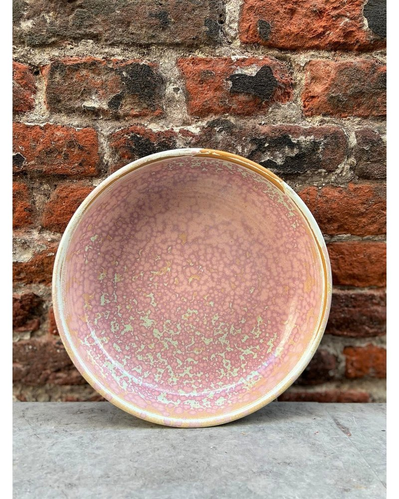 HK living HK living Home Chef Deep Plate 'Rustic Pink'