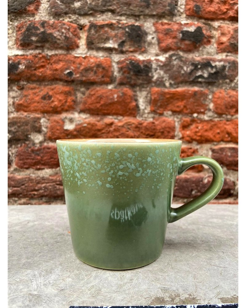 HK living HK living Ceramic 70's Cappuccino Mug  'Grass'