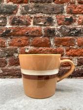 HK living Ceramic 70's Cappuccino Mug  'Stream'