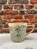 HK living HK living Ceramic 70's Cappuccino Mug  'Hail'