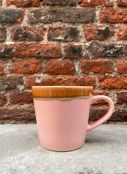 HK living Ceramic 70's Cappuccino Mug  'Pink'