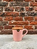 HK living HK living Ceramic 70's Espresso Mug  'Pink'