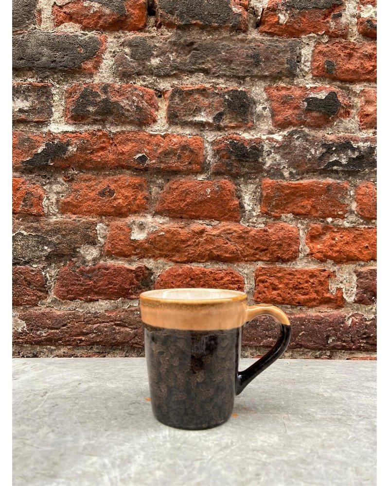 HK living HK living Ceramic 70's Espresso Mug  'Lava'