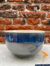 HK living Ceramic 70's Noodle Bowl  'Ocean'