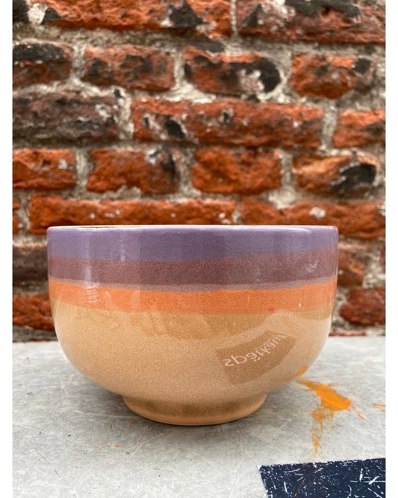 HK living HK living Ceramic 70's Noodle Bowl  'Sunset'