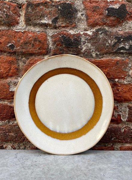 HK living Ceramic 70's Dessert Plate 'Snow'