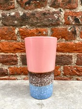 HK living Ceramic 70's Latte Mug  'Pink'