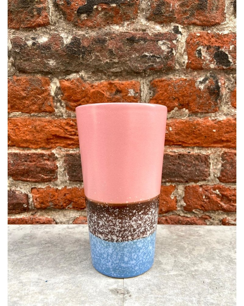 HK living HK living Ceramic 70's Latte Mug  'pink reef'