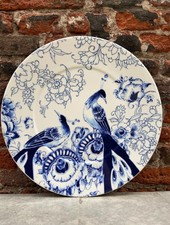 Royal Delft Peacock Symphony Under Plate