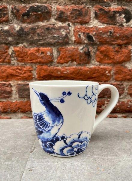 Royal Delft Peacock Symphony Mug