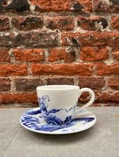 Royal Delft Peacock Symphony Espresso Cup & Saucer