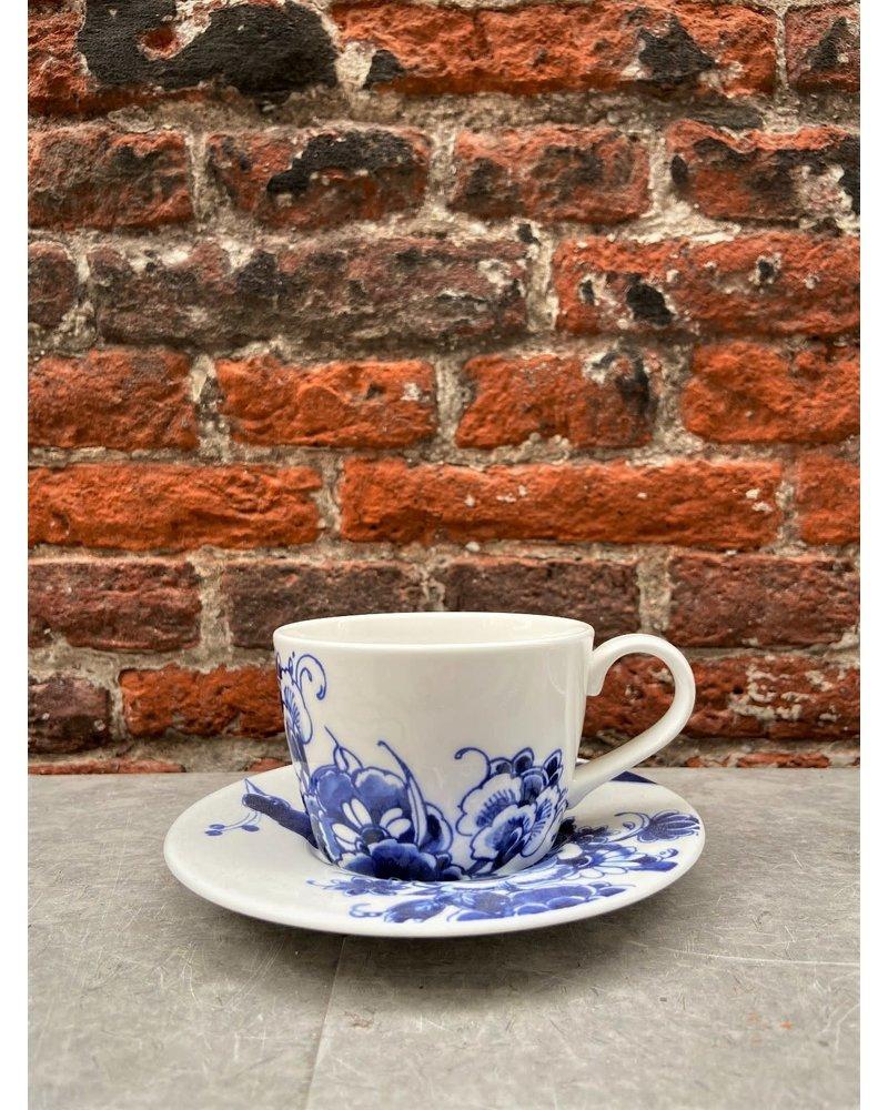 Royal Delft Royal Delft Peacock Symphony Tea/Cappuccino Cup & Saucer