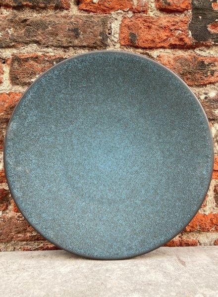 Jars Céramistes Tourron Dinner Plate 'Blue D'Encre'