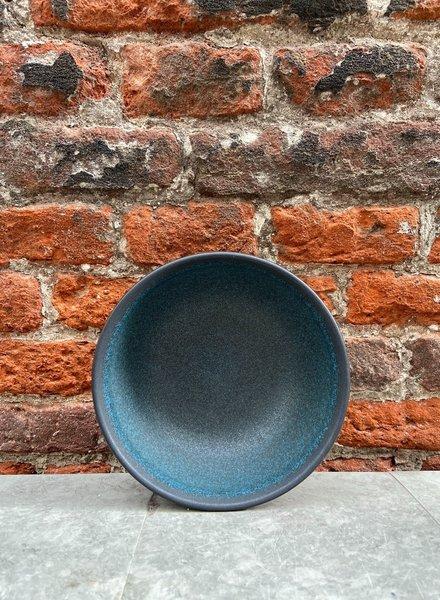 Jars Céramistes Tourron Soup/Salad Bowl 'Blue D'Encre'