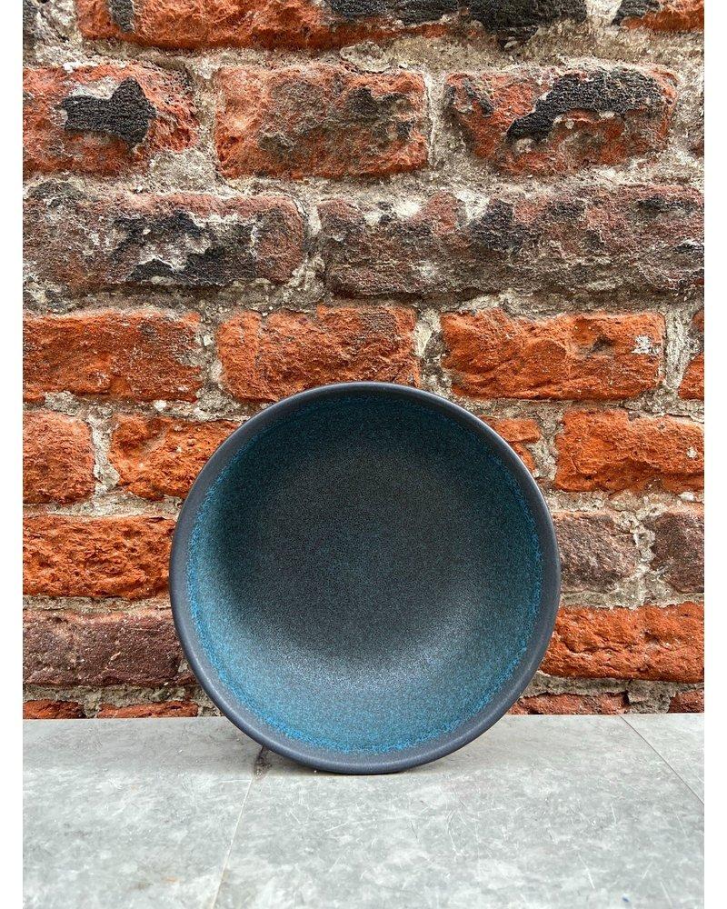 Jars Céramistes Jars Tourron Soup/Salad Bowl 'Blue D'Encre'