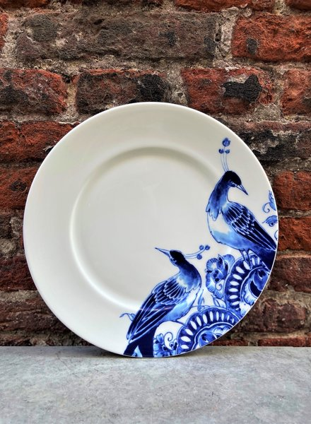 Royal Delft Peacock Symphony Dessert Plate