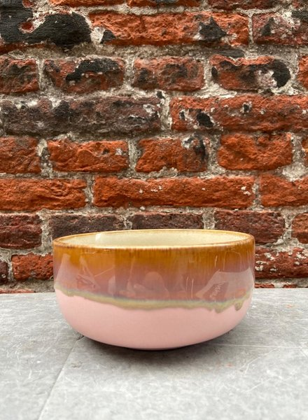 HK living Ceramic 70's Dessert Bowl 'Pink'