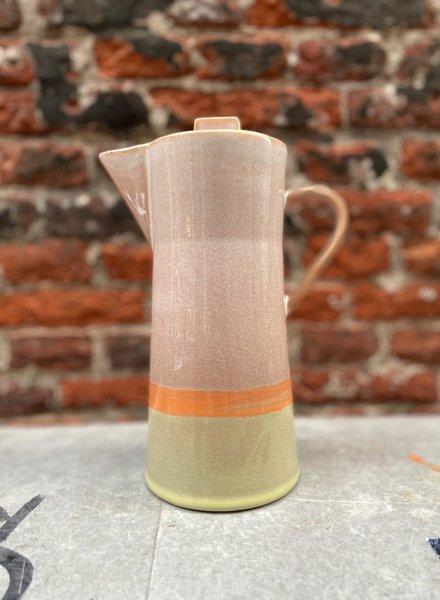 HK living Ceramic 70's Coffee Pot
