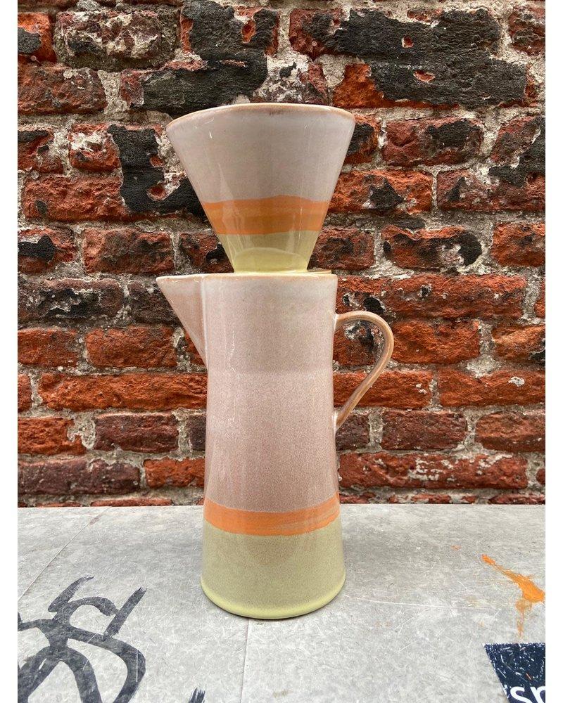 HK living HK living Ceramic 70's Coffee Pot 'Saturn'
