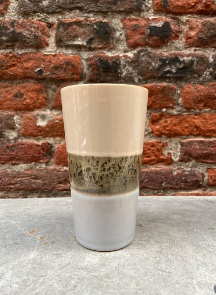 HK living Ceramic 70's Latte Mug 'Lake'