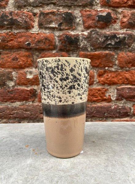 HK living Ceramic 70's Latte Mug  'Reef'
