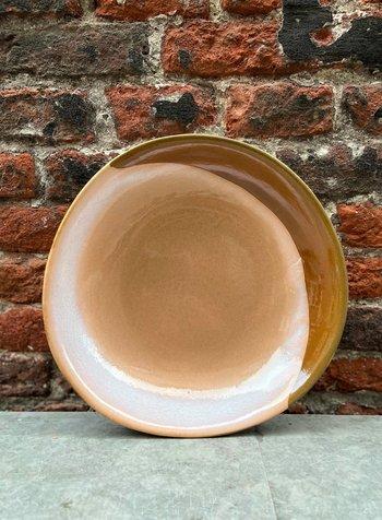 HK living Ceramic 70's Curry Bowl  'Hills'