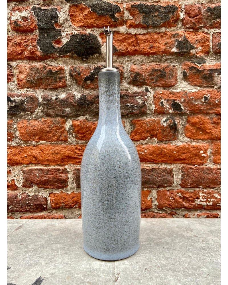 Jars Céramistes Jars Tourron Oil Bottle 'Ecorce'