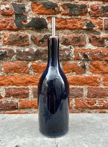 Jars Céramistes Tourron Oil Bottle 'Indigo'