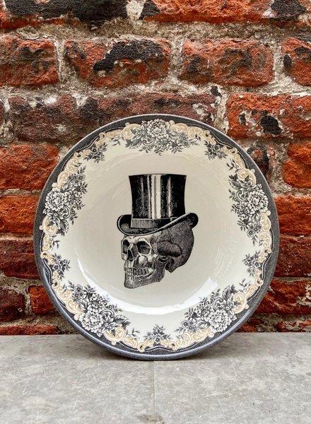 Homelab Cereal Bowl 'Skull Top Hat'