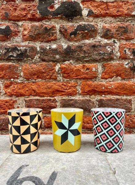 Serax Tealights Tile Print Set 1