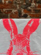 Frohstoff Theedoek 'Haas Neon Roze'