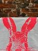 Frohstoff Frohstoff Theedoek 'Haas Neon Roze'