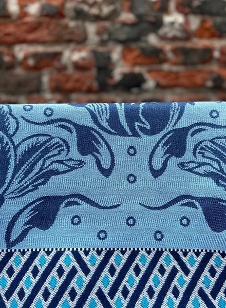Wolbert Textiles Teatowel 'La Bomba Tulipa Blue'