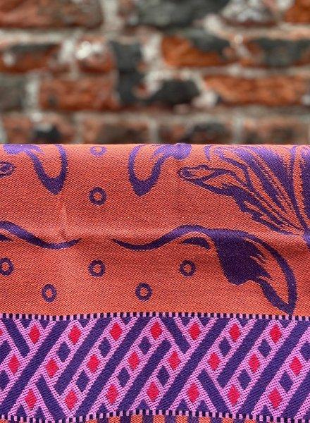 Wolbert Textiles Teatowel 'La Bomba Tulipa Purple'