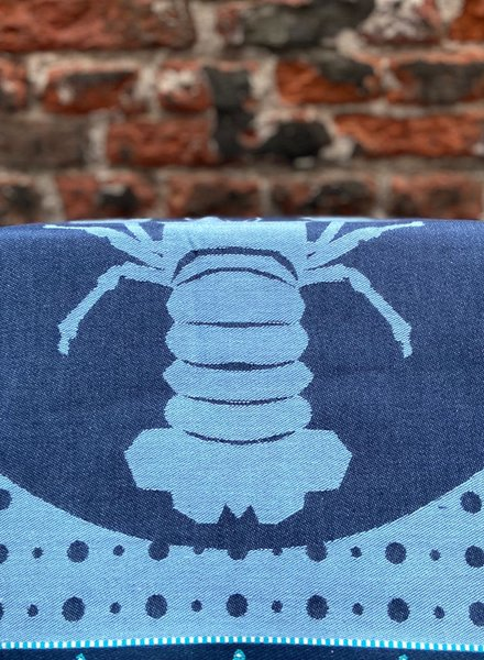 Wolbert Textiles Teatowel 'Lazy Lobster Blue'