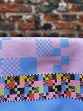 Wolbert Textiles Teatowel 'Soft Square Pink'