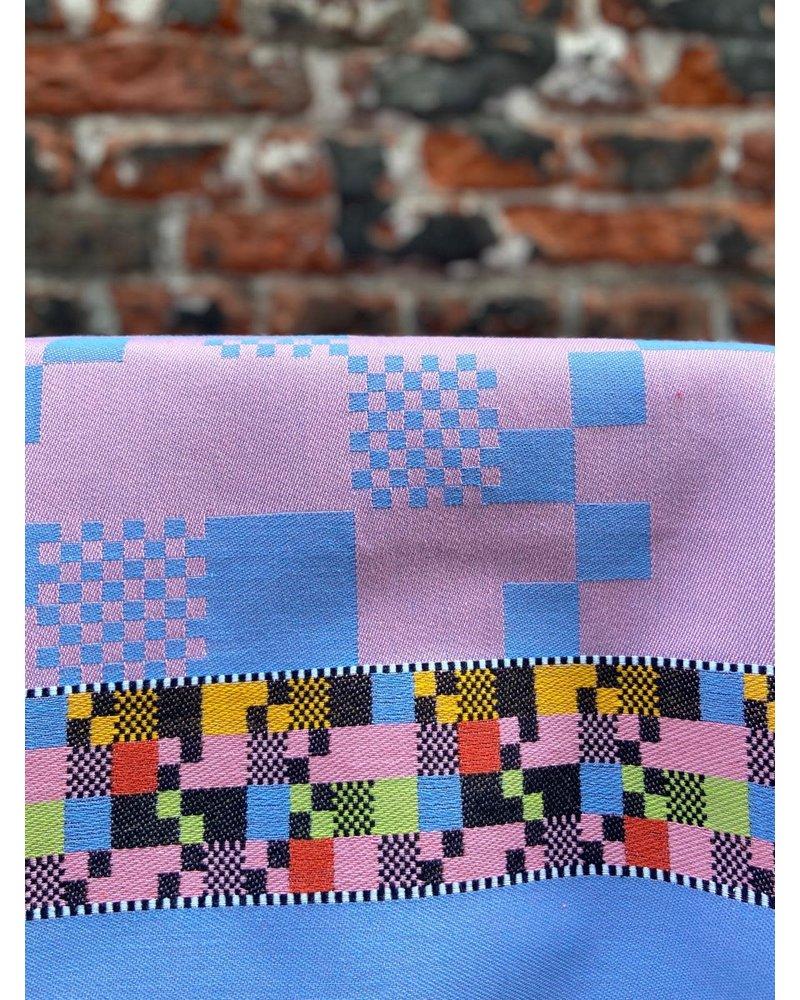 Wolbert Textiles Wolbert Textiles Teatowel 'Soft Square Pink'