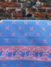 Wolbert Textiles Teatowel 'Woven Windmill Pink'