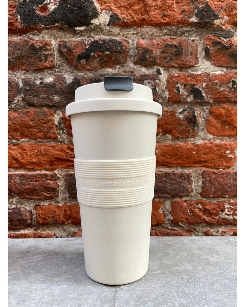 Zuperzozial Zuperzozial Time Out Mug Large 'Coconut White'