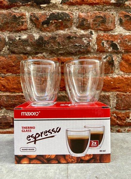 Set van 2 Thermoglazen 'Espresso'