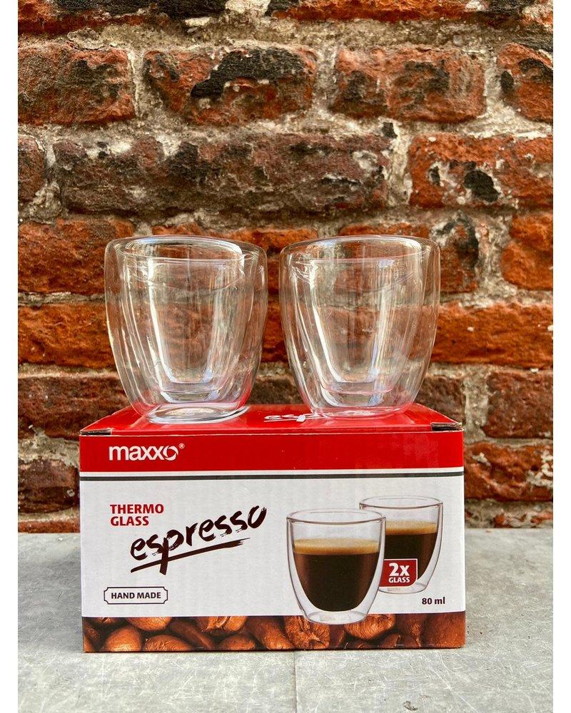Maxxo Set van 2 Thermoglazen 'Espresso'