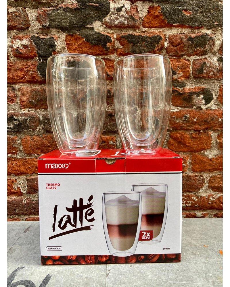 Maxxo Set van 2 Thermoglazen 'Latte'