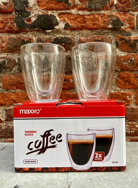 Set van 2 Thermoglazen 'Coffee'