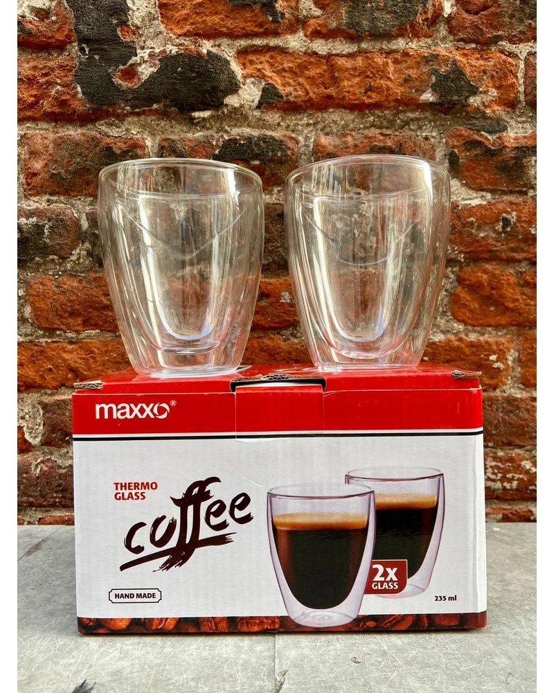 Maxxo Set van 2 Thermoglazen 'Coffee'