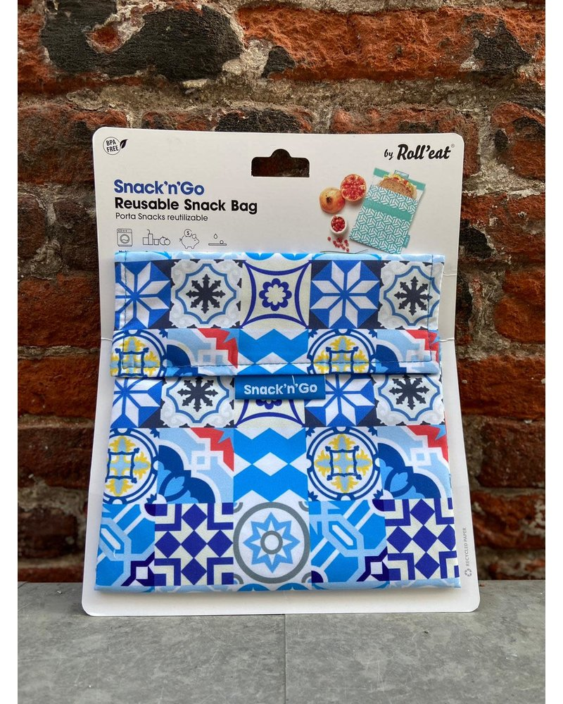Roll and eat Roll'Eat Snack'n Go 'Patchwork Blue'