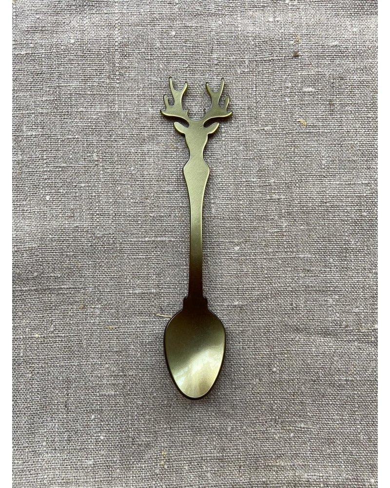 Sabre Thee lepel rendier 15 cm olijf