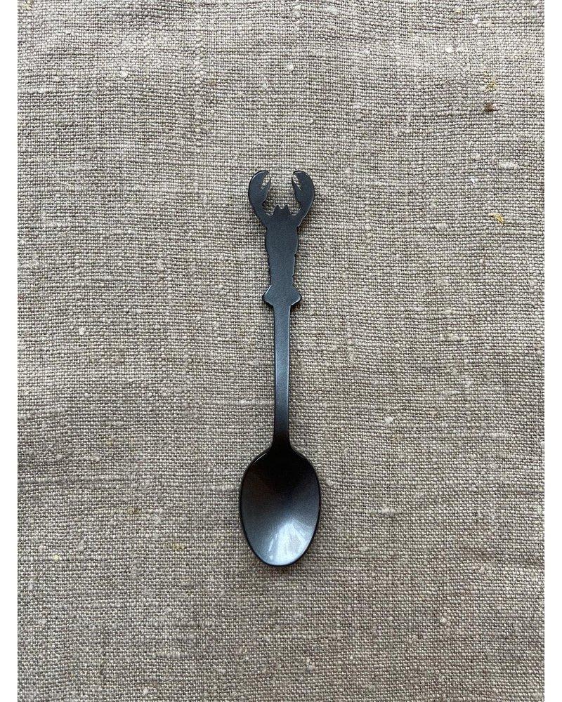 Sabre Koffie lepeltje kreeft antraciet 10 cm Sabre
